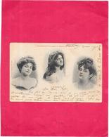 COMMENT L'ON PORTE LE GRAIN De BEAUTE - Edit BERGERET - 3 Belles Femmes - SAL** - - Bergeret