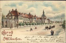 12918686 METEOR Hold To Light Nr. 605 Muenchen Neues Nationalmuseum Litho Besond - Halt Gegen Das Licht/Durchscheink.