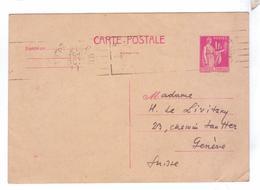 Entier Postal 1 Fr 1928 - Entiers Postaux