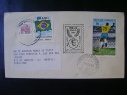 BRAZIL -COMMEMORATIVE ENVELOPE TO THE 1000TH GOL OF THE PELE IN THE STATE - Autres
