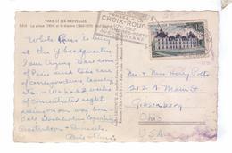 Tampon Cachet Marque Postale Obliteration Croix Rouge 1955 Paris Opera Guy - Marcophilie (Lettres)