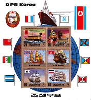 Korea Democratic People's Republic SG N2319 1983 Old Ships, Sheetlet, Mint Never Hinged - Korea, North