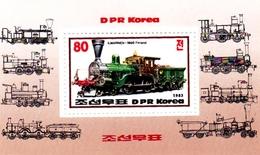 Korea Democratic People's Republic SG N2327 1983 Railways, Mint Never Hinged - Korea, North