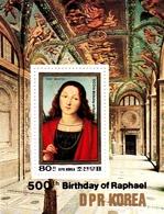 Korea Democratic People's Republic SG N2386 1984 500th Anniversary Of Raphael, Souvenir Sheet, Mint Never Hinged - Korea, North