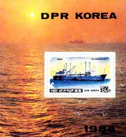 Korea Democratic People's Republic SG N2441 1984 Container Ship, Souvenir Sheet, Mint Never Hinged - Korea, North
