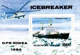 Korea Democratic People's Republic SG N2460 1984 Ice Breakers, Souvenir Sheet, Mint Never Hinged - Korea, North