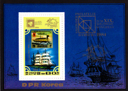 Korea Democratic People's Republic SG N2462 1984 Hamburg Stamp Fair, Souvenir Sheet, Mint Never Hinged - Korea, North