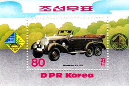 Korea Democratic People's Republic SG N2479 1984 History Of Motor Cars, Souvenir Sheet, Mint Never Hinged - Korea, North