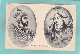 Old Small Postcard Of Shahjahan Fifth Mughal Emperor & His Queen,Pakistan,R50. - Pakistan
