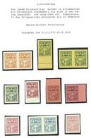 Latvia Lettland 1927 - 1928 ARCHIVE PROOFS Probedrucke Essay Druckproben MNH - Lettonie