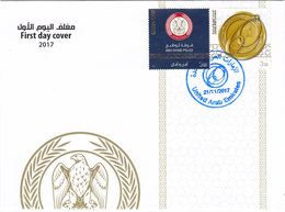 UAE New Issue 2017, Abu Dhabia POLICE 1v.+labele +-Limited Issue-FDC- SKRILL PAY. ONLY - Emirats Arabes Unis
