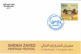 UAE New Issue 2017, Sheik Zaid Heritage Festival 1v.complete Set FDC- Skrill Payment Only - Verenigde Arabische Emiraten