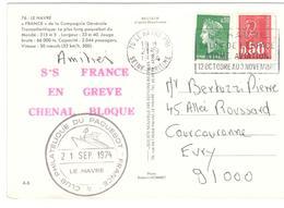 2056 - SS FRANCE ...BLOQUE - Marcofilie (Brieven)
