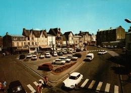 CPSM 50 SAINT PAIR SUR MER La Place De L'Eglise , Automobiles CITROËN DS ESTAFETTE .......... - Saint Pair Sur Mer