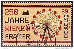 Austria Österreich 2016 250 Jahre Wiener Prater   USED / O / GESTEMPELT - 2011-... Afgestempeld