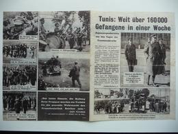 WWII WW2 Tract Flugblatt Propaganda Leaflet In German, PWE G Series/1943 Сode G.32(a) Tunis: Weit über 160 000 Gefangene - Non Classificati
