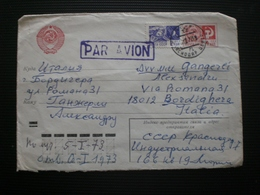 RUSSIA RUSSIE РОССИЯ STAMPS COVER 1972 AIRMAIL RUSSIE TO ITALY RRR RIF.TAGG. (117) - Cartas