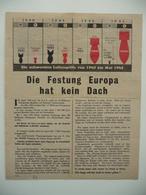 WWII WW2 Tract Flugblatt Propaganda Leaflet In German, PWE G Series/1943, Сode G.38, Die Festung Europa Hat Kein Dach - Non Classificati