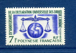 - Etat : **  Polynésie Française  1 Timbre  YT 25    P 1868 - French Polynesia