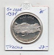 Turchia - 1971 - 50 Lire - Argento - Vedi Foto - (FDC9412) - Turchia