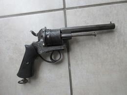 JOLI REVOLVER 9MM A BROCHE PUIS TRANSFORME 380 GRAVE FACTURE BELGE - Decorative Weapons