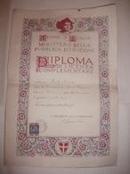 DIPLOMA LICENZA COMPLEMENTARE FIUME ( RIJEKA REKA ) 1927 - Diplomi E Pagelle