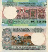INDIA       5 Rupees       P-80r       ND (ca. 1987)       UNC  [staple Holes] - India