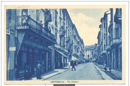 VENTIMIGLIA VIA CAVOUR 1936  VIAGGIATA F.P. MANCA F.BOLLO - Imperia
