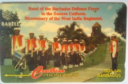 16CBDB Defense Force Band B$40  No Slash C/n - Barbades