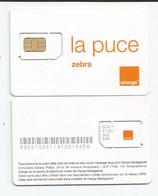 Madagascar Malagasy Carte SIM NEUVE ORANGE ZEBRA  /  NEW SIM Card ORANGE ZEBRA  MADAGASCAR - Madagascar