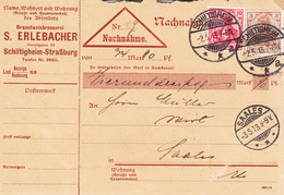 Nachnahme Affr Michel 84 + 86 Obl SCHILTIGHEIM / * * A Du 2.5.13 Adressée à Saales - Poststempel (Briefe)