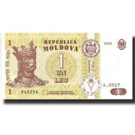 Billet, Moldova, 1 Leu, 2002, 2002, KM:8f, NEUF - Moldavie