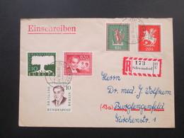 Einschreiben 1958 Berlin / BRD Schöne MiF R - Zettel R 173 Schwandorf 17 U - BRD
