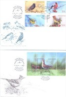 2015. Moldova, Birds Of Moldova, 2 FDC With Set And S/s, Mint/** - Moldawien (Moldau)