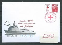 T.C.D.SIROCO - Aide Humanitaire à HAÏTI - Timbre Solidarité  Oblit. PJ - PARIS 19/01/10 - Marcophilie (Lettres)