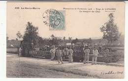 52 - Langres - Siege - Manoeuvres De Forteresse 1906 - Transport Des Obus - Chemin-de-fer - Tramway - Langres