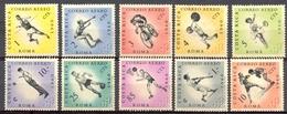 Costa Rica - 1960 - Yt PA 301/310 - J.O. De Rome - * Charnières - Costa Rica