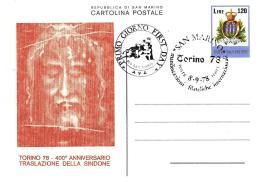 [MD1514] CPM - TORINO 78 - 400° ANNIVERSARIO TRASLAZIONE DELLA SINDONE - CON ANNULLO 8.9.78 - NV - Cristianesimo
