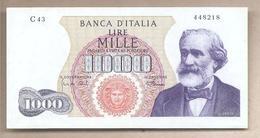 """Italia - Banconota Circolata SPL Da 1000 Lire """"Verdi I° Tipo"""" R3 P-96e - 1968 - [ 2] 1946-… : Républic"""