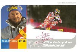 CPM - SKI ALPIN - PHOTO DEDICACEE DE CHRISTOPHE SAIONI - Winter Sports