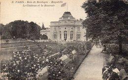 CPA PARIS - BOIS DE BOULOGNE - BAGATELLE - LE CHATEAU ET LA ROSERAIE - Parcs, Jardins