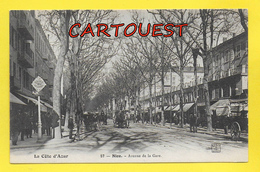 CPA 06 NICE Avenue De La Gare Grosse Animation ( Av. Jean Médecin ) - Nice