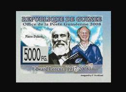 Guinee Edward Lorenz Mathematics Pierre Duhem Physics France IMPERF 1v Mi:5885 - Non Classificati
