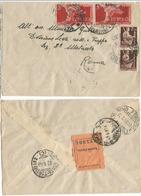 Luogotenenza Re Di Maggio Lotto Di #3 Documenti  Differenti Affrancature Espresso Lettera Avviso - Storia Postale