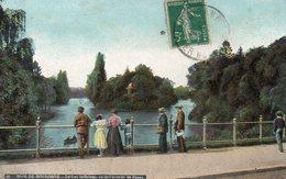 CPA PARIS - BOIS DE BOULOGNE - LE LAC INFERIEUR VU DE L'AVENUE DE PASSY - Parcs, Jardins