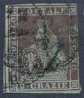 ITALIAN STATES TUSCANY 1851 9cr Used Lot#43 - Toscane