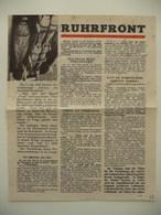 WWII WW2 Tract Flugblatt Propaganda Leaflet In German, PWE G Series/1943, Code G.47, RUHRFRONT / ATLANTIKFRONT - Non Classificati