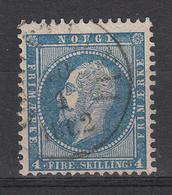 NOORWEGEN - Michel - 1856 - Nr 4 - Gest/Obl/Us - Norvège