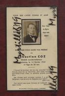 Faire-part De Décès - (1945) Memento Monsieur Sébastien Coz - Guipavas - Obituary Notices