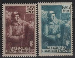 FR 159 - FRANCE N° 386/87 Neuf** Monument à La Gloire De L'Infanterie - France